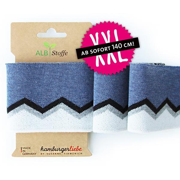 Jeansblaues Strickbündchen 'Cuff Me' aus Biobaumwolle