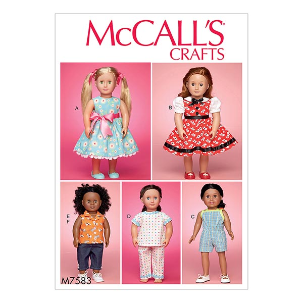 """Mccalls Clothes For 18/"""" Doll"""