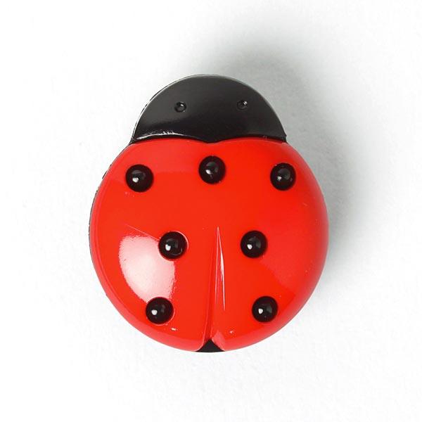 Marienkäfer als Kunststoffknopf