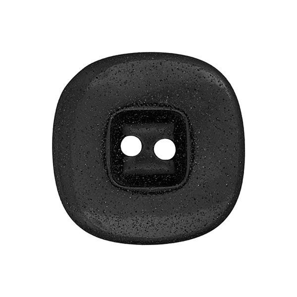Kunststoffknopf Domino - schwarz