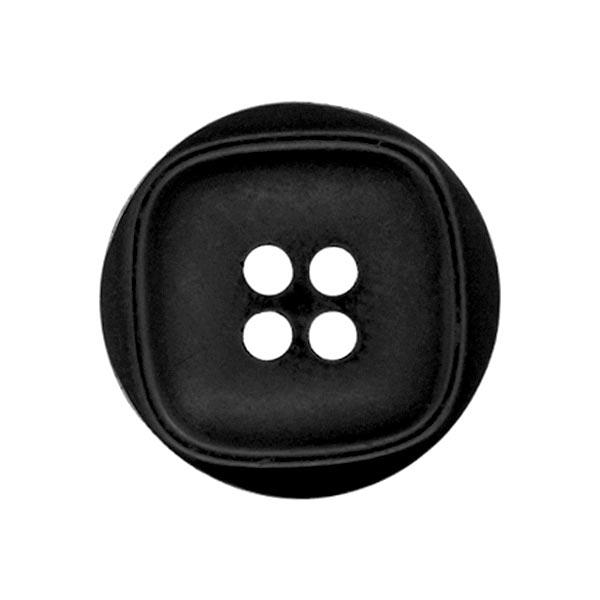 Kunststoffknopf Quatro - schwarz