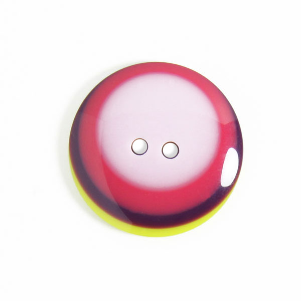 Bunter 2-Loch-Kunststoffknopf