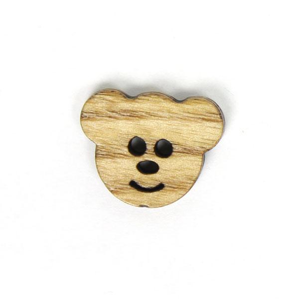 Holzknopf 'Bärenköpfchen'