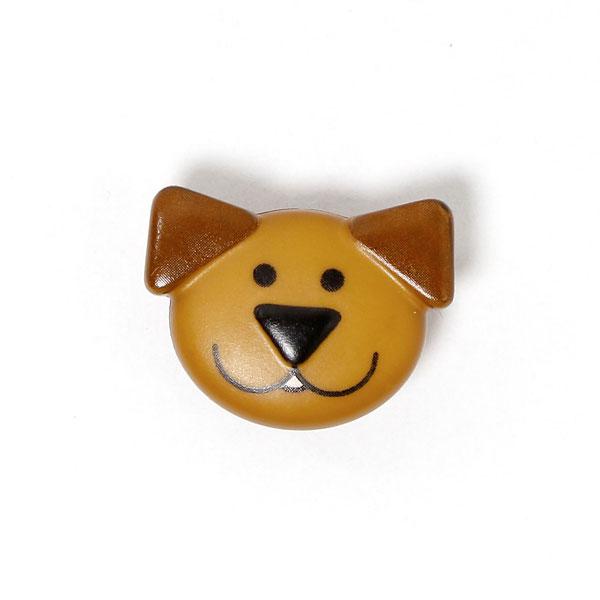Kunststoffknopf 'Hundegesicht'