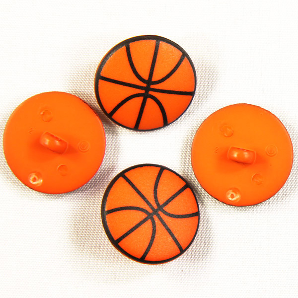 Basketball als Kunststoffknopf