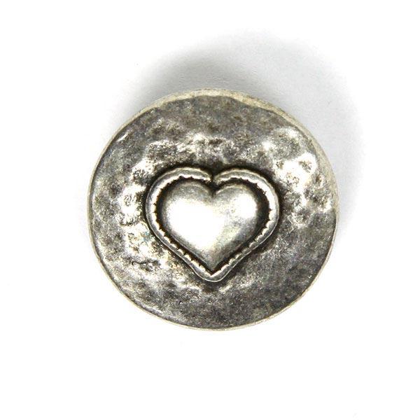 Herz Metallknopf