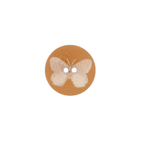 Steinnussknopf mit Schmetterling