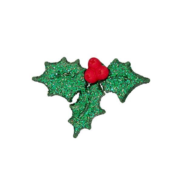 Weihnachtsknopf Mistelzweig - grün