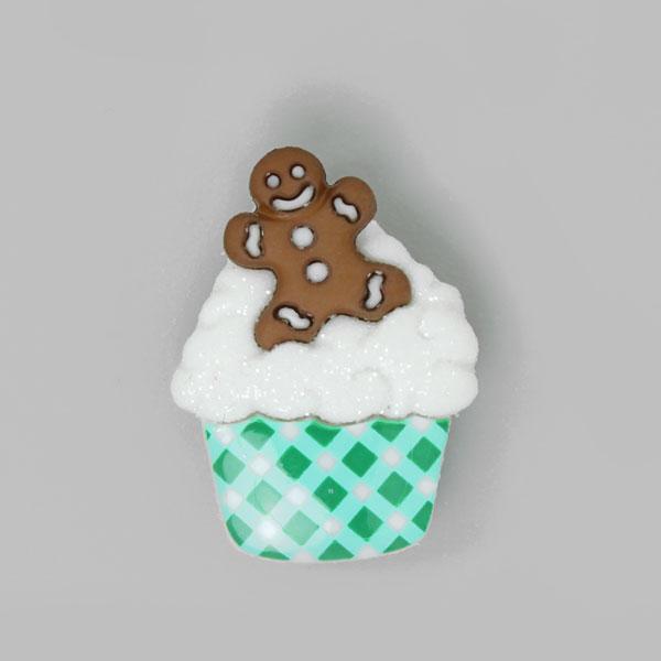 Weihnachtsknopf Cupcake