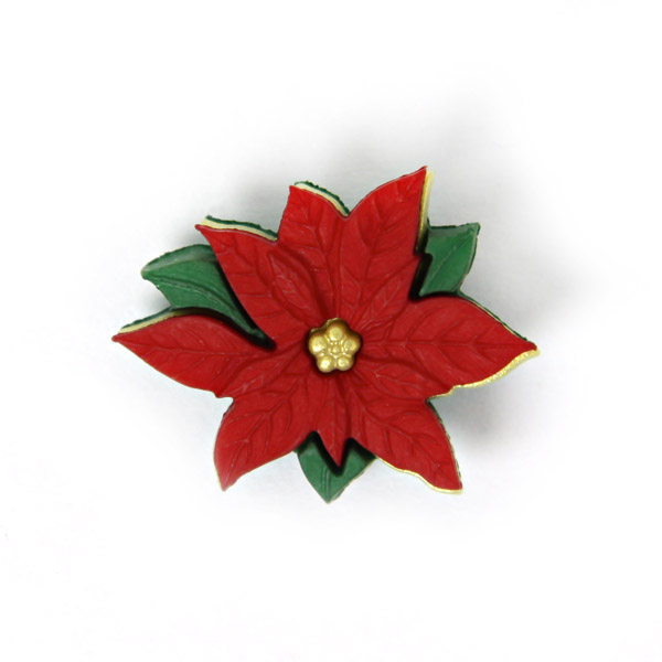 Weihnachtsknopf Weihnachtsstern - rot