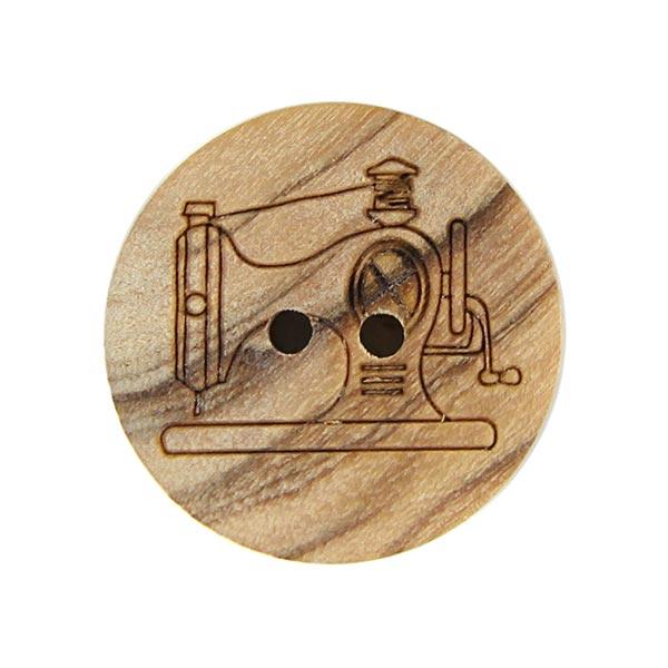 Holzknopf Nähmaschine