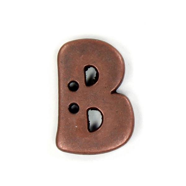 Buchstabenknopf Metallic – B (087)