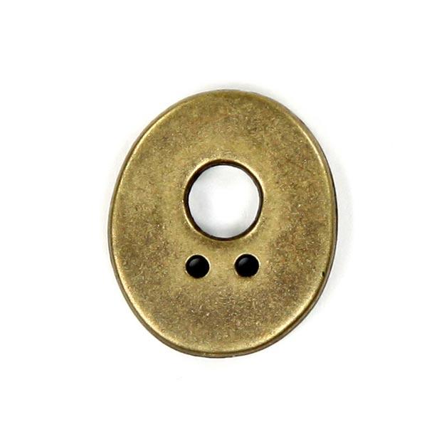 Buchstabenknopf Metallic – O (851)