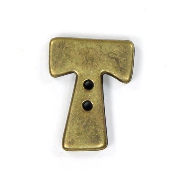 Buchstabenknopf Metallic – T (851)