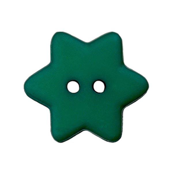 Kunststoffknopf 'Stern' in Mattgrün