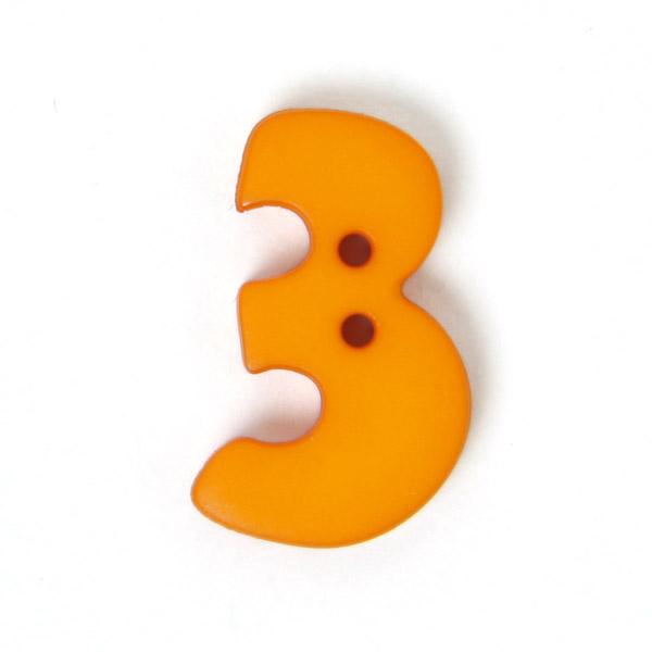 Zahlenknopf 3