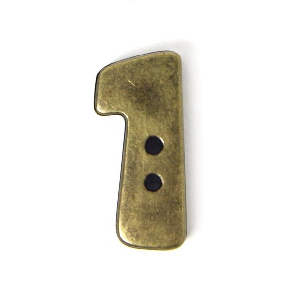 Zahlenknopf '1' im Metalllook