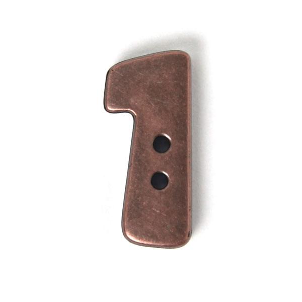 Zahlenknopf 1 - Metalloptik