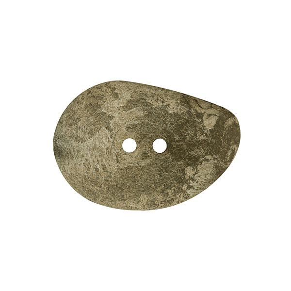 Poly-Holzknopf, oval - oliv