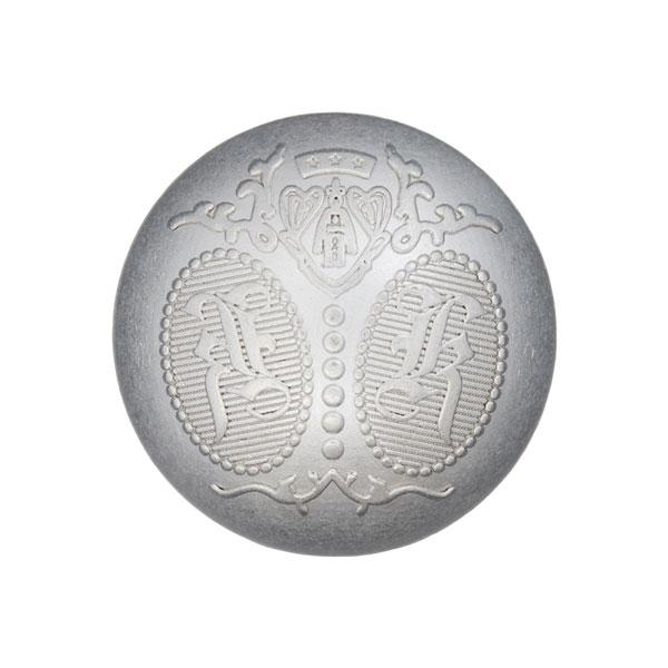 Metallknopf Wappen – silber