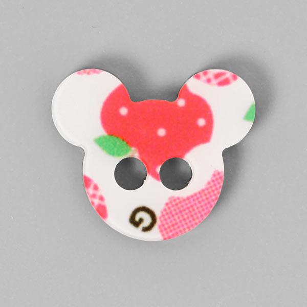 Kunststoffknopf 'Mäuseköpfchen' im Farbmix