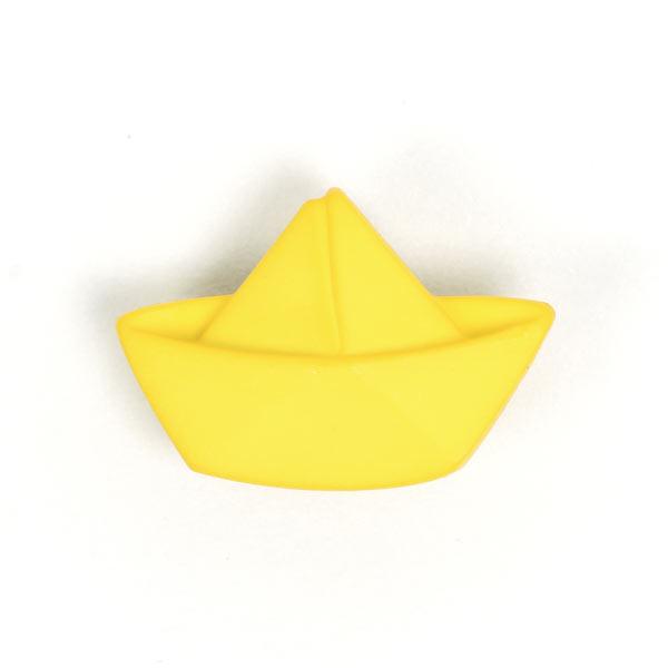 Kunststoffknopf 'Boot' in Gelb