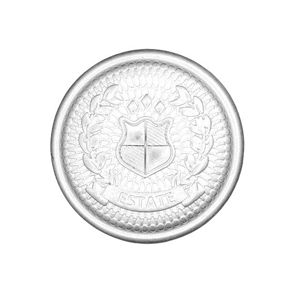 Metallknopf Wappen 2 – silber