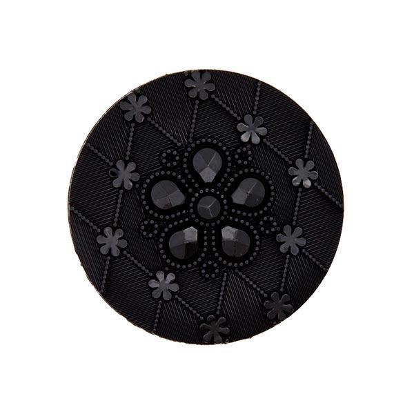 Blazerknopf, elegant 2 – schwarz