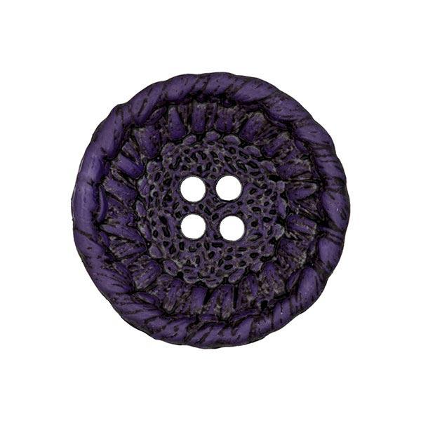 Kunststoffknopf Strick - lila