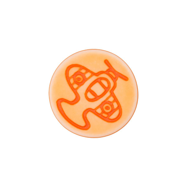 Ösenknopf Flugzeug – orange