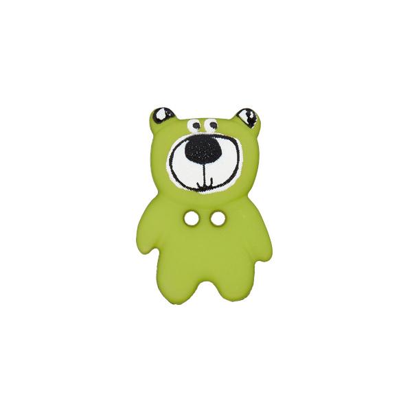 Kunststoffknopf Bär 4