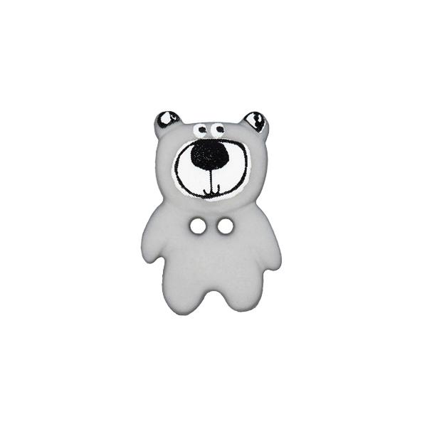 Kunststoffknopf Bär 11