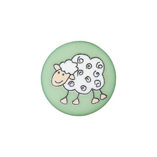 Ösenknopf Schaf – hellgrün