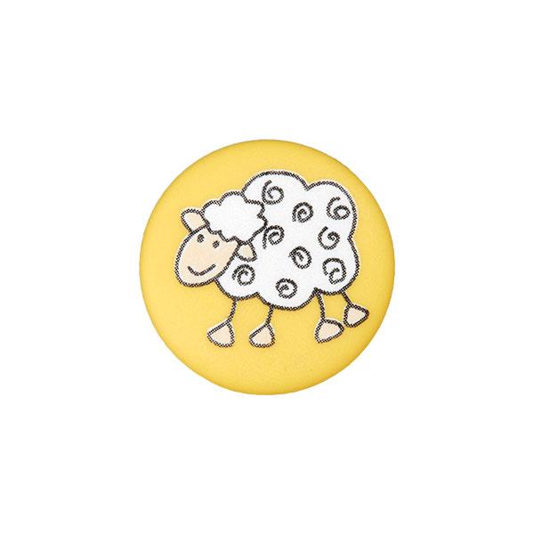 Ösenknopf Schaf – gelb