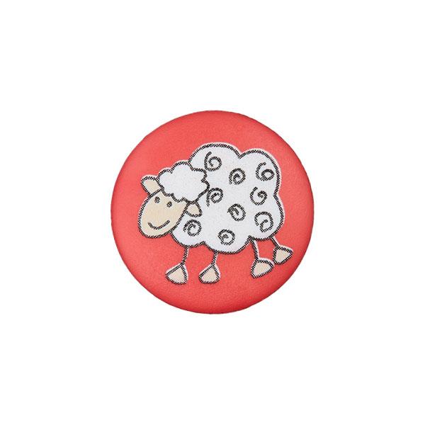 Ösenknopf Schaf – rot
