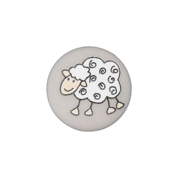 Ösenknopf Schaf – grau
