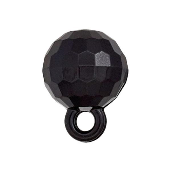 Kugelknopf – schwarz