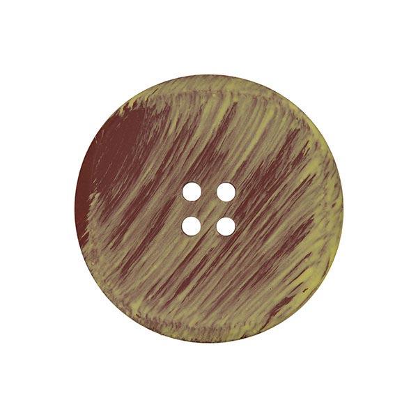 Kunststoffknopf Effekt - braun/grün
