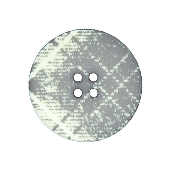 Mantelknopf Schottenkaro - grau