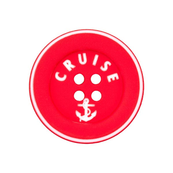 Polyknopf Cruise 2 - rot
