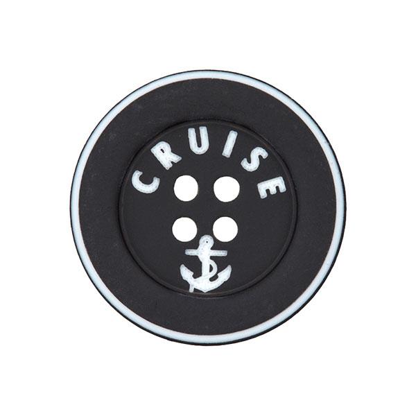 Polyknopf Cruise 4 – schwarz