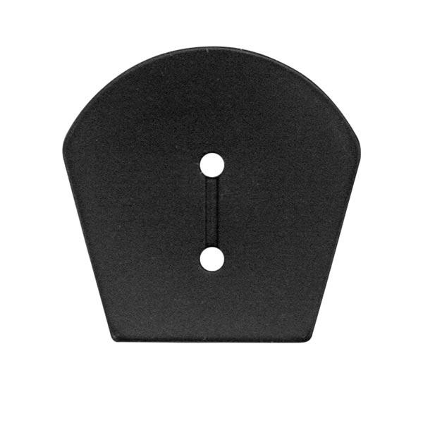 Polyesterknopf Strick 11 – schwarz