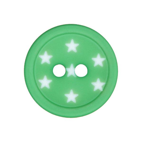 Kunststoffknopf Sterne – grün