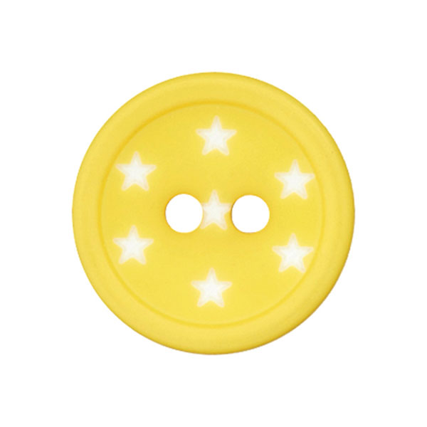 Kunststoffknopf Sterne – gelb