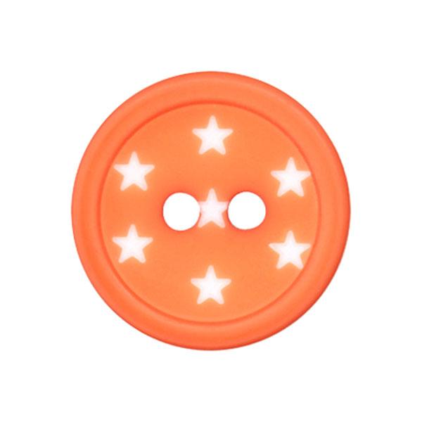 Kunststoffknopf Sterne – orange