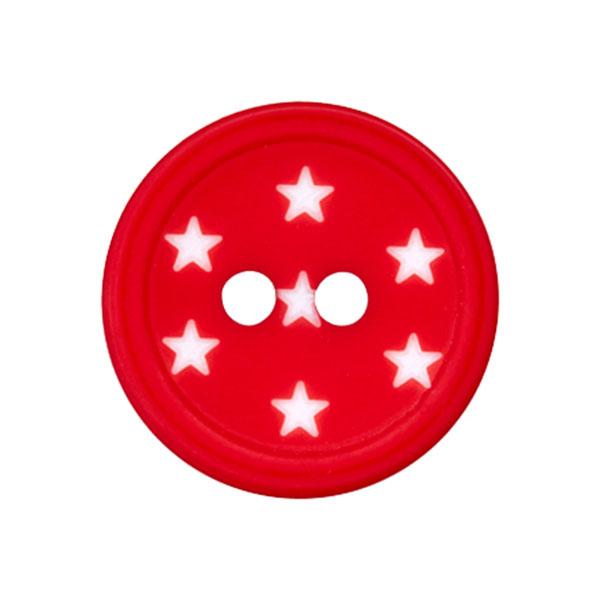 Kunststoffknopf Sterne – rot
