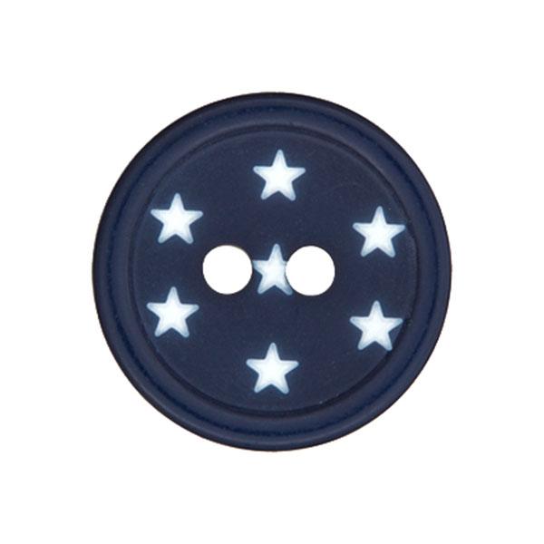 Kunststoffknopf Sterne – marineblau