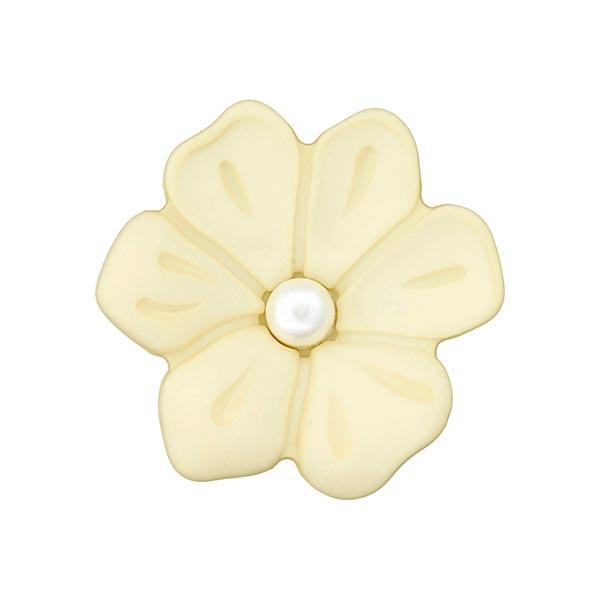 Schmuckknopf Blume 2 – hellgelb
