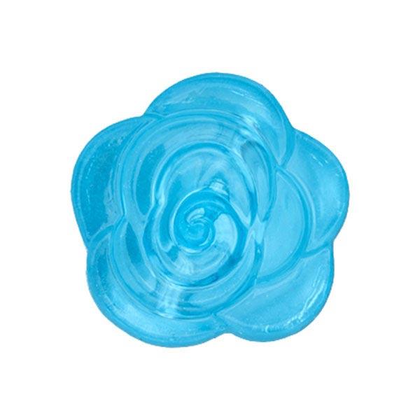 Blusenknopf Blume – türkis