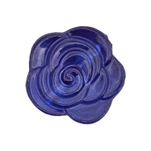 Blusenknopf Blume – königsblau
